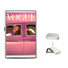 vogue COVER -PINK CAR~Vogue-Cover-Autumn-Fuchsia-1957-Posters[1] Flip Top Lighter by bonniebeautyplanet