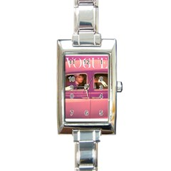 vogue COVER -PINK CAR~Vogue-Cover-Autumn-Fuchsia-1957-Posters[1] Rectangular Italian Charm Watch by bonniebeautyplanet