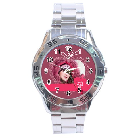 Love By Ki Ki   Stainless Steel Analogue Watch   Dv1qrcgagifh   Www Artscow Com Front