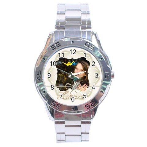 Love By Ki Ki   Stainless Steel Analogue Watch   Kxt3ztxrt8hi   Www Artscow Com Front
