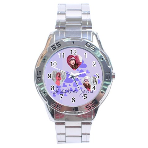 Love By Ki Ki   Stainless Steel Analogue Watch   3z60e7qmuuok   Www Artscow Com Front