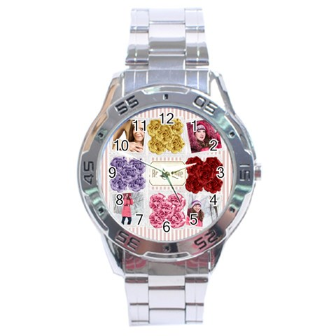 Love By Ki Ki   Stainless Steel Analogue Watch   Rvtykjro8rk5   Www Artscow Com Front