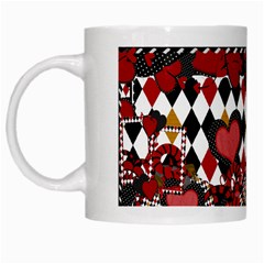 Hearts Mug By Cherish Collages   White Mug   Yg0thw1a6eoe   Www Artscow Com Left