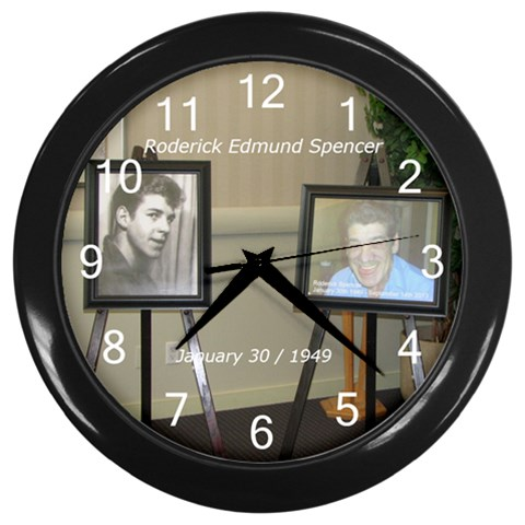 Rodclock By Colleen Pike   Wall Clock (black)   J93hl3tc5pb0   Www Artscow Com Front