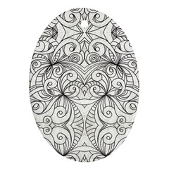 Drawing Floral Doodle 1 Oval Ornament by MedusArt