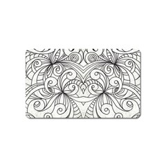 Drawing Floral Doodle 1 Magnet (name Card) by MedusArt