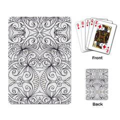 Drawing Floral Doodle 1 Playing Cards Single Design by MedusArt