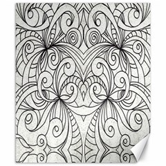 Drawing Floral Doodle 1 Canvas 8  X 10  (unframed) by MedusArt