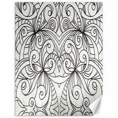 Drawing Floral Doodle 1 Canvas 12  X 16  (unframed) by MedusArt