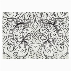 Drawing Floral Doodle 1 Glasses Cloth (large, Two Sided) by MedusArt