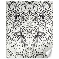 Drawing Floral Doodle 1 Canvas 11  x 14  (Unframed) by MedusArt