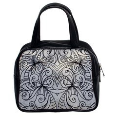 Drawing Floral Doodle 1 Classic Handbag (two Sides) by MedusArt