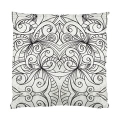 Drawing Floral Doodle 1 Cushion Case (two Sided)  by MedusArt