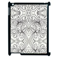 Drawing Floral Doodle 1 Apple Ipad 2 Case (black) by MedusArt