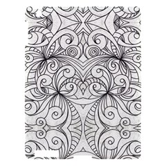 Drawing Floral Doodle 1 Apple Ipad 3/4 Hardshell Case by MedusArt
