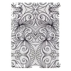 Drawing Floral Doodle 1 Apple Ipad 3/4 Hardshell Case (compatible With Smart Cover) by MedusArt