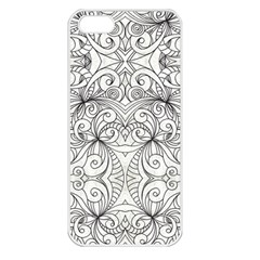 Drawing Floral Doodle 1 Apple Iphone 5 Seamless Case (white) by MedusArt