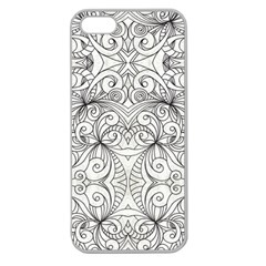 Drawing Floral Doodle 1 Apple Seamless Iphone 5 Case (clear) by MedusArt