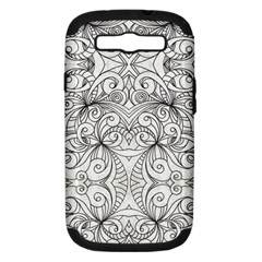 Drawing Floral Doodle 1 Samsung Galaxy S Iii Hardshell Case (pc+silicone) by MedusArt