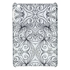 Drawing Floral Doodle 1 Apple Ipad Mini Hardshell Case by MedusArt
