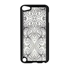 Drawing Floral Doodle 1 Apple Ipod Touch 5 Case (black) by MedusArt