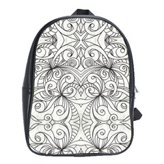 Drawing Floral Doodle 1 School Bag (xl) by MedusArt
