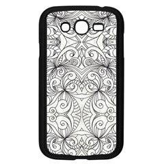 Drawing Floral Doodle 1 Samsung Galaxy Grand Duos I9082 Case (black) by MedusArt