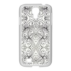 Drawing Floral Doodle 1 Samsung Galaxy S4 I9500/ I9505 Case (white) by MedusArt