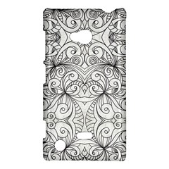 Drawing Floral Doodle 1 Nokia Lumia 720 Hardshell Case by MedusArt