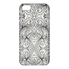 Drawing Floral Doodle 1 Apple Iphone 5c Hardshell Case by MedusArt