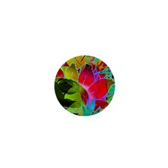 Floral Abstract 1 1  Mini Button by MedusArt