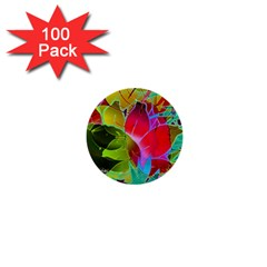 Floral Abstract 1 1  Mini Button (100 Pack) by MedusArt
