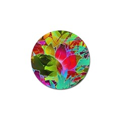 Floral Abstract 1 Golf Ball Marker 4 Pack by MedusArt