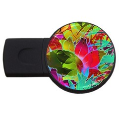 Floral Abstract 1 2gb Usb Flash Drive (round) by MedusArt