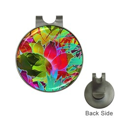 Floral Abstract 1 Hat Clip with Golf Ball Marker by MedusArt
