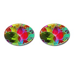 Floral Abstract 1 Cufflinks (oval) by MedusArt