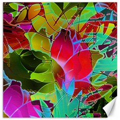 Floral Abstract 1 Canvas 20  X 20  (unframed) by MedusArt