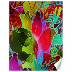 Floral Abstract 1 Canvas 18  X 24  (unframed) by MedusArt