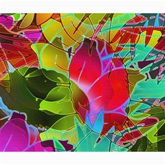 Floral Abstract 1 Canvas 20  X 24  (unframed) by MedusArt