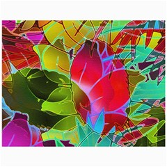 Floral Abstract 1 Canvas 36  X 48  (unframed) by MedusArt