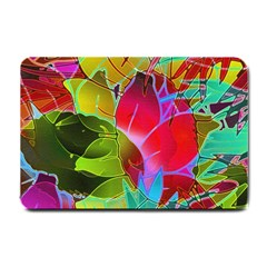 Floral Abstract 1 Small Door Mat by MedusArt