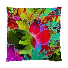 Floral Abstract 1 Cushion Case (two Sided)  by MedusArt