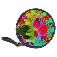 Floral Abstract 1 Cd Wallet by MedusArt
