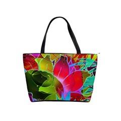 Floral Abstract 1 Large Shoulder Bag by MedusArt