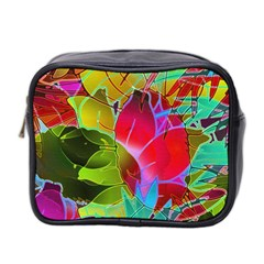 Floral Abstract 1 Mini Travel Toiletry Bag (two Sides) by MedusArt
