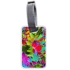 Floral Abstract 1 Luggage Tag (one Side) by MedusArt