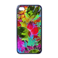 Floral Abstract 1 Apple Iphone 4 Case (black) by MedusArt