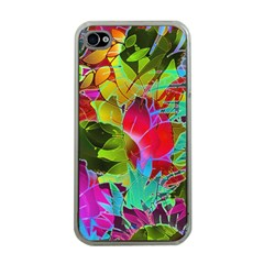 Floral Abstract 1 Apple Iphone 4 Case (clear) by MedusArt