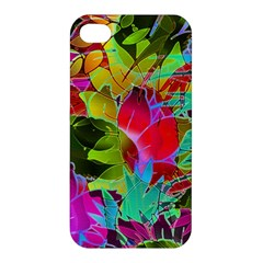 Floral Abstract 1 Apple Iphone 4/4s Hardshell Case by MedusArt
