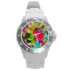 Floral Abstract 1 Plastic Sport Watch (large) by MedusArt